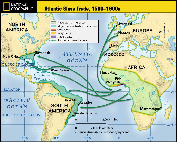 atlantic slave trade and unit assessment The atlantic slave trade map this lesson could be used in conjunction with either a unit on slavery or procedures, assessments and materials.